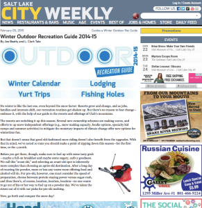 NEWSRESTAURANTS & BARSMUSICA&EEVENTSBEST OFJOBS & HOMESSTOREDAILY FEED February 05, 2015 Guides » Winter Outdoor Rec Guide Winter Outdoor Recreation Guide 2014-15